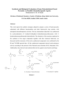 Synthesis and Biological Evaluation of Some Polysubstituted Fused