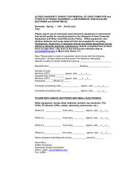 Electronic and Scrap Metal Disposal Survey Form
