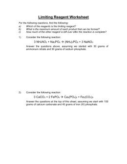 Reagent Worksheet