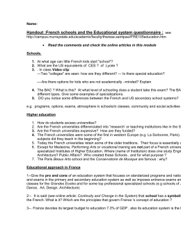 Questionnaire to fill and hand in (download)