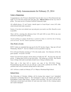 Daily Announcements for March 6th, 2013