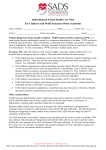 Wolff Parkinson White Syndrome Care Plan