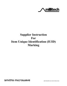 Supplier Instruction