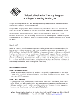 DBT Flyer - Village Counseling Services, PC