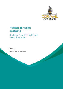Permit to work systems - guidance from the