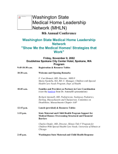 Agenda and Faculty - Washington State Medical Home
