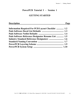 PowerPCB Training Manual, Your First Design