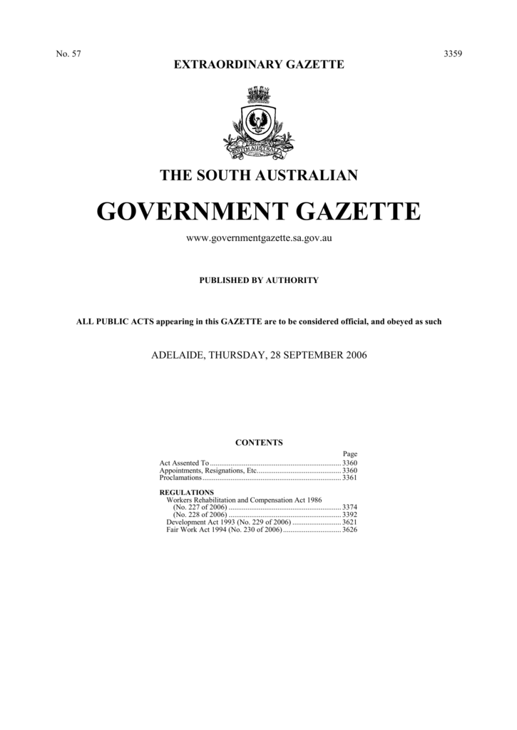 DOC - Government Gazette