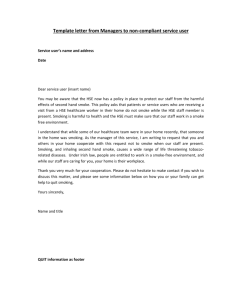 Template letter from Managers to non