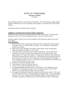 11-16-2011 - Town of Thorndike