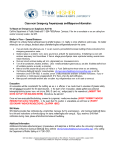 Classroom Emergency Preparedness and Response Information To