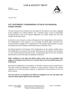 LST statement condemning attack on Mannar