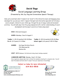 Social Bugs Social Language Learning Group (Presented by We