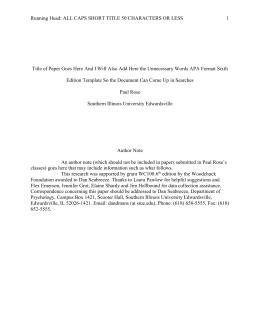 manuscript template in 5th edition apa format