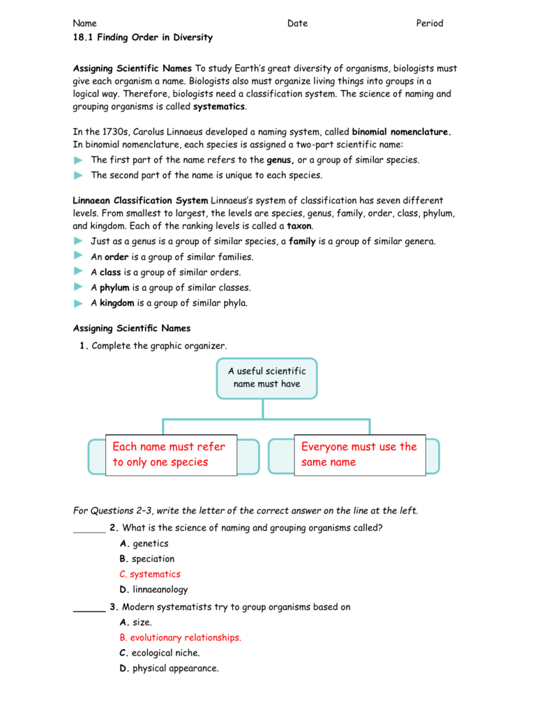 Evolution and classification test study guide