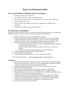 Water use reduction guide