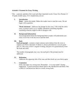 writing a conclusion for the hatchet essay aristotle`s formula for essay writing