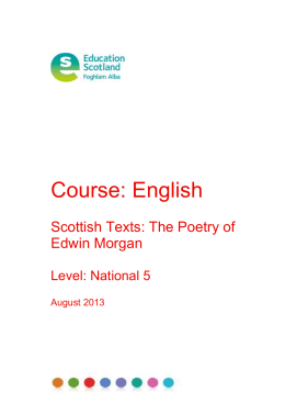 Scottish Texts: The Poetry of Edwin Morgan