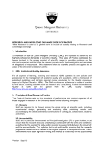 Code of Research Practice - Queen Margaret University