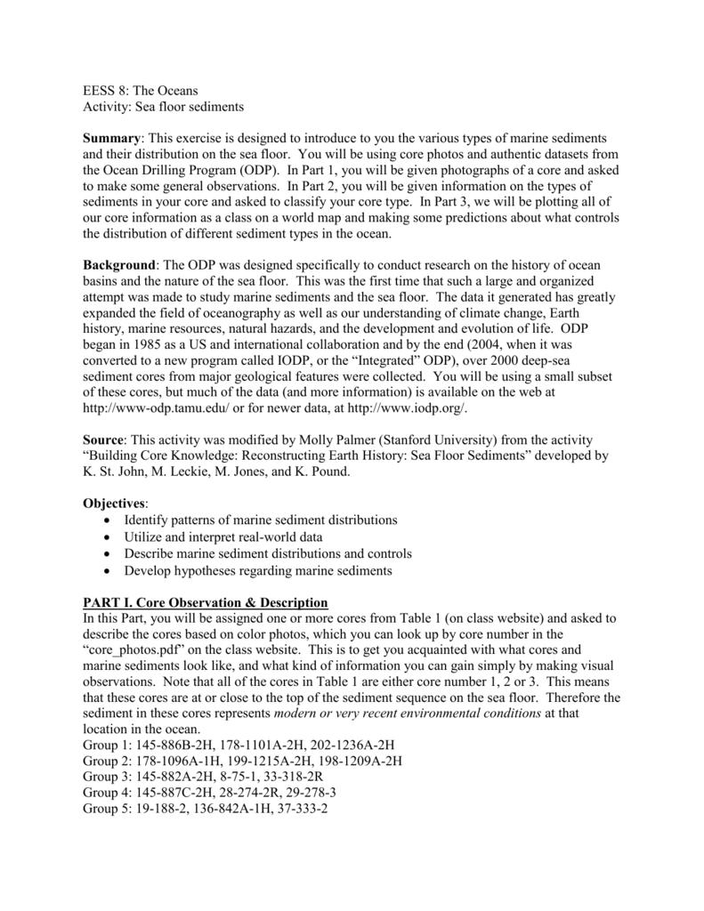 Uncategorized Oceanography Worksheets student worksheet sediments