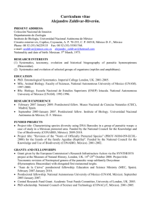 Link to AZR`s CV. - Instituto de Biología