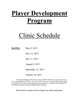 Player Development Program