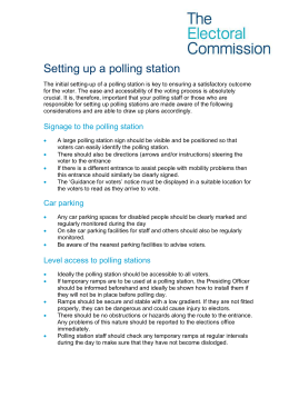 Polling station accessibility checklist
