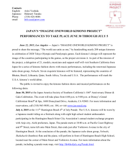 Press Release - Japan America Society of Southern California
