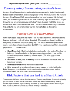 Coronary Artery Disease - Catholic Medical Partners
