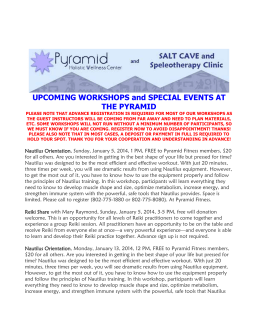 upcoming pyramid workshops/opportunities