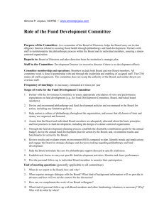Development Committee Job Description