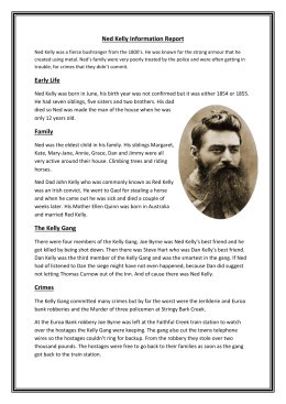 ned kelly information report Angus
