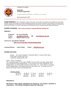 SYLLABUS - FSU Computer Science Department
