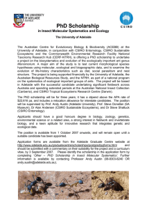 PhD Scholarship in Insect Molecular Systematics