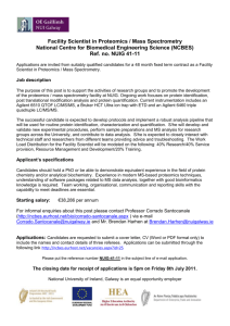 Technical research post in Proteomics / Mass Spectrometry