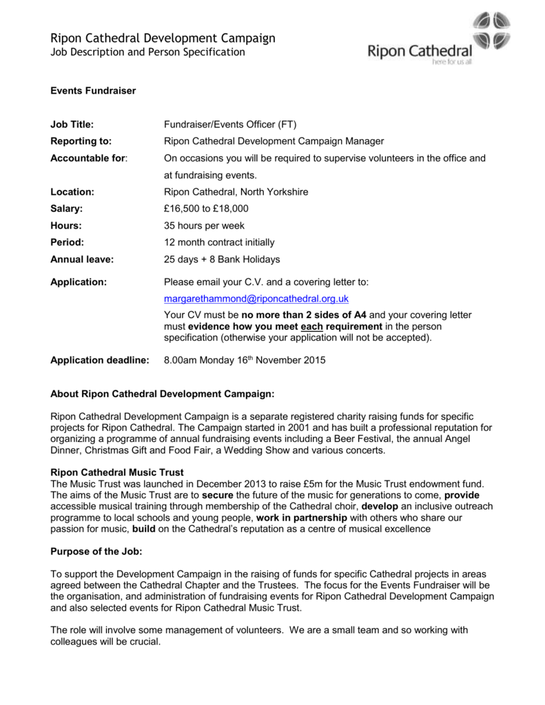 cover letter for fundraising assistant - Kozen ...