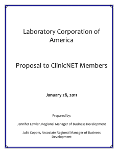 LabCorp+Proposal+ClinicNET