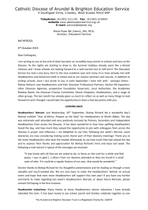 Oct 2015 - Director`s Letter to schools