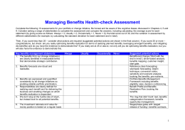 Managing Benefits Health-check Assessment - APMG