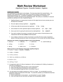 Significant Figures And Scientific Notation Worksheet Answers: scientific notation sig figs worksheet,