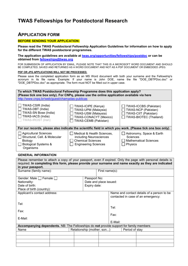2015 PDoc application form