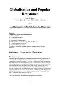 Globalisation and Popular Resistance