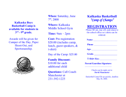 Kalkaska Boys Basketball Camp is available for students in 3rd