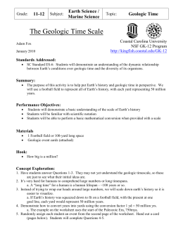 Geologic Time Scale Model