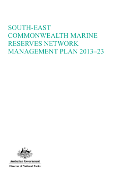South-east Commonwealth Marine Reserves Network Management