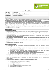 Job description and person specification