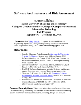 Software Architecture for Software-Intensive