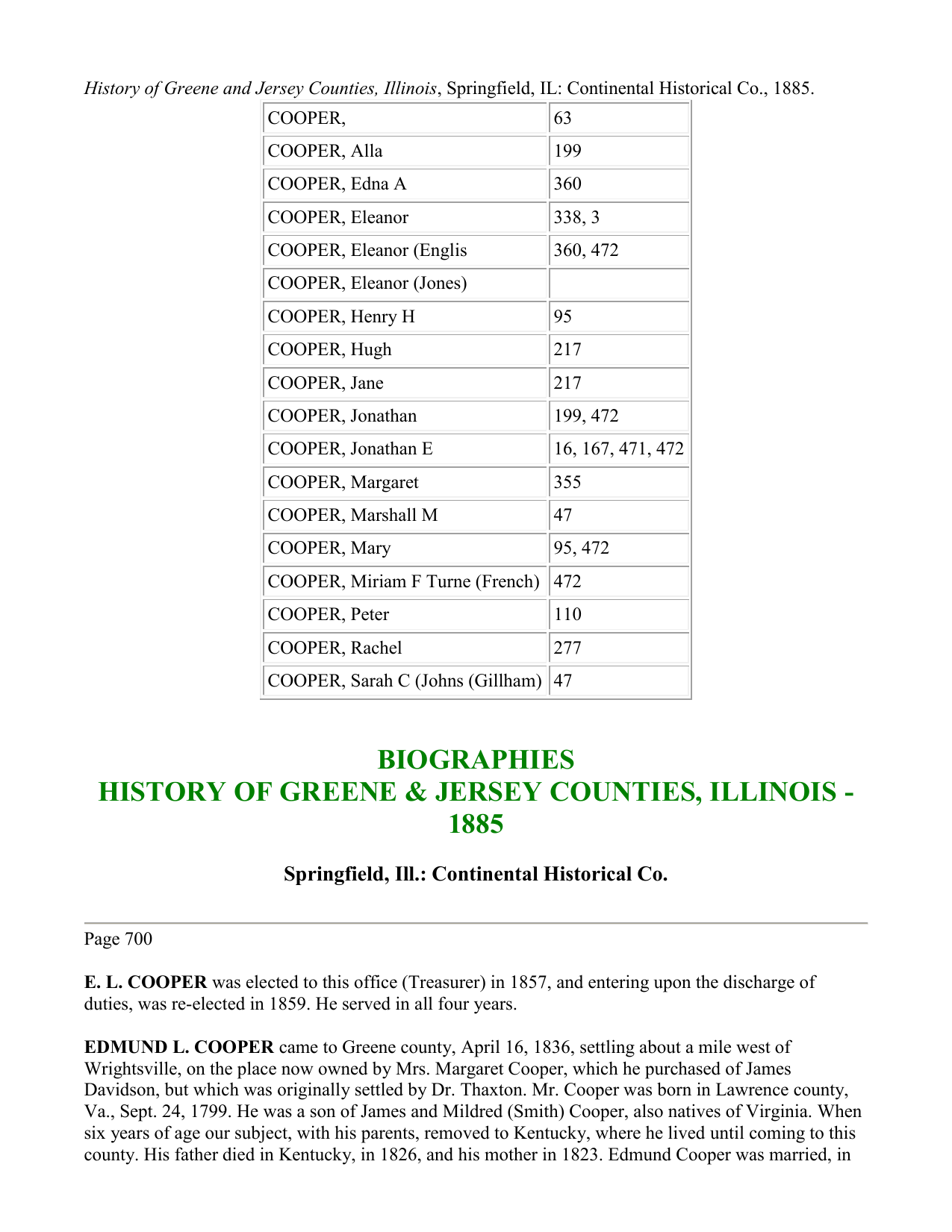 History of Greene and Jersey Counties, Illinois, Springfield, IL
