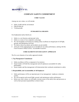 (company) safety culture commitment