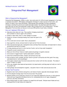 WHPP 905: Integrated Pest Management